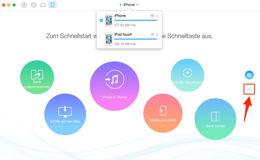 iPhone Apps auf iPod, ohne iTunes – Schritt 1