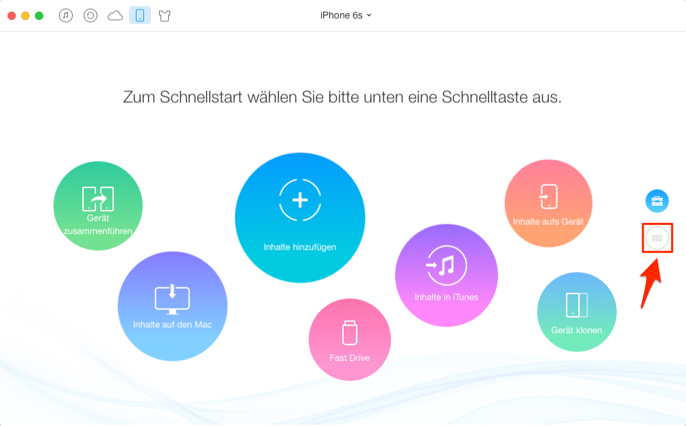 Apps vom iPhone in iTunes – Schritt 1