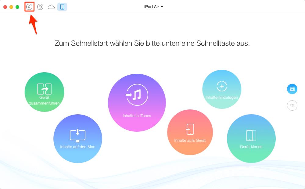 Apps und Daten von iTunes auf iPad übertragen – Schritt 1