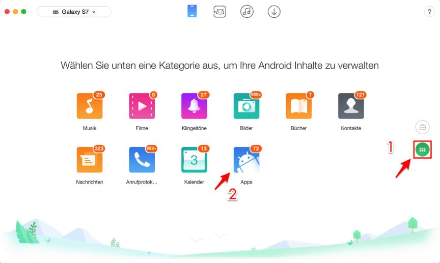 Neues Handy Apps übertragen Samsung – Schritt 2