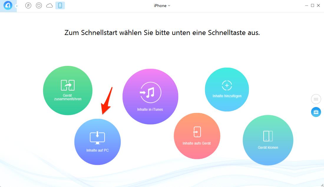 Audiodateien vom iPhone auf PC übertragen – Schritt 2