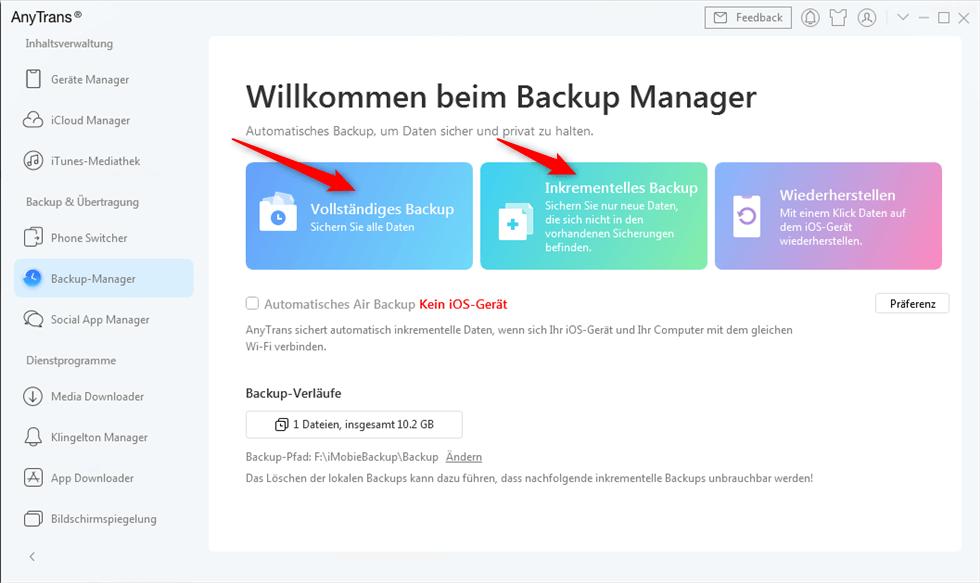 backup-manager-anytrans-waehlen