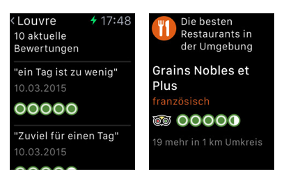 Beste Apps von Apple-Watch – TripAdvisor