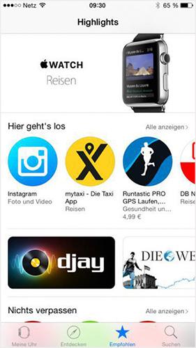 App auf Apple-Watch herunterladen und installieren