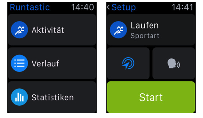 Beste Apps von Apple-Watch – Runtastic Pro