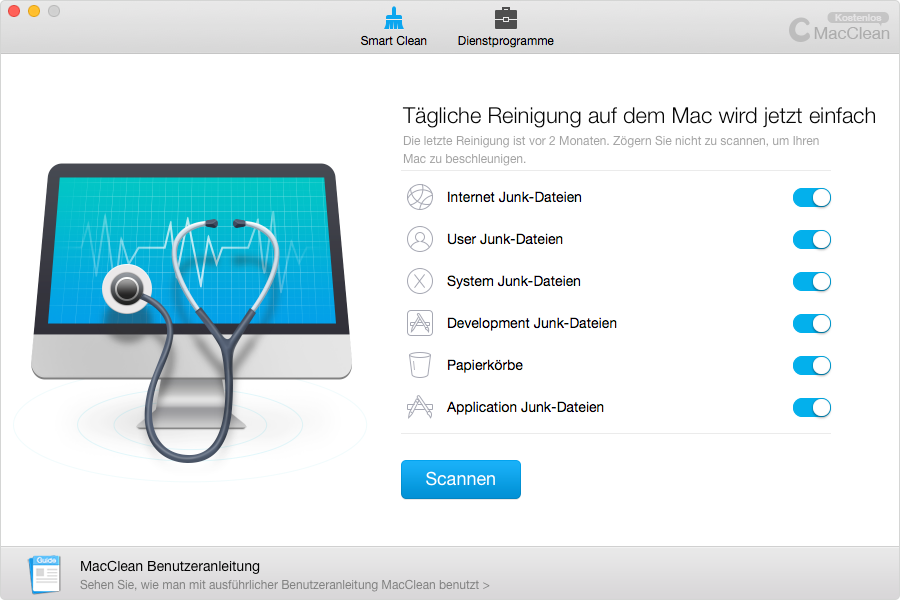 MacClean – Beste App für Mac