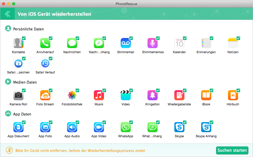 Top App für Mac - PhoneRescue