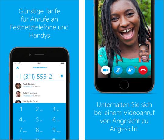 App für Weihnachten – Skype