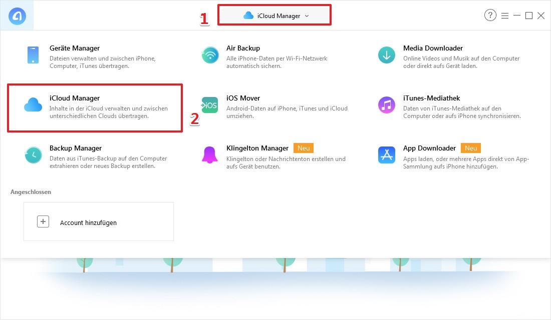 Bilder vom iCloud auf PC übertragen - Schritt 1