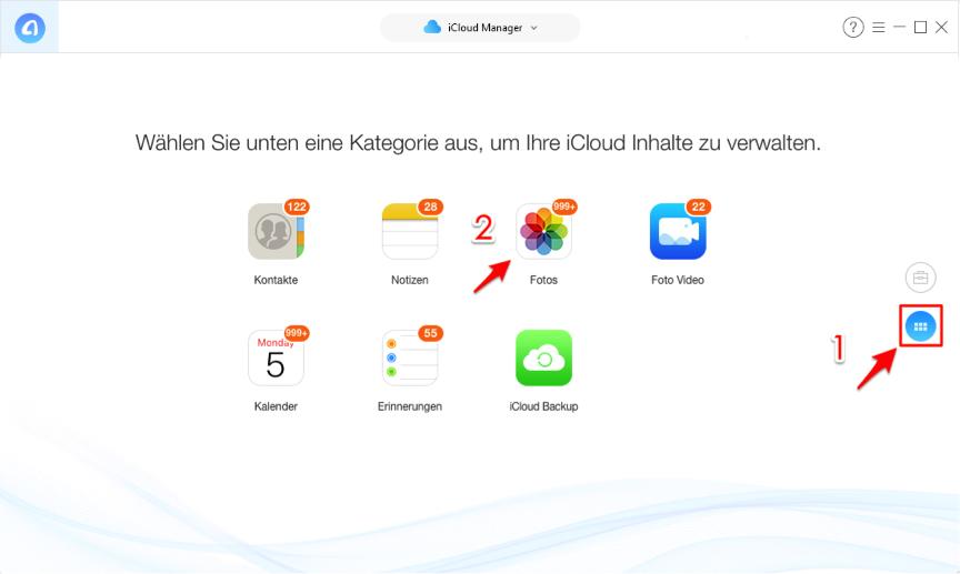 iCloud Bilder zu PC ziehen - Schritt 3