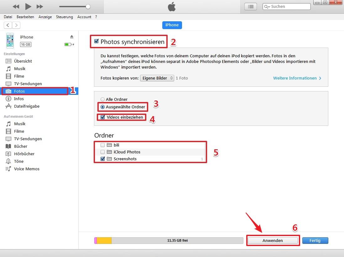 Bilder und Videos importieren mit Windows