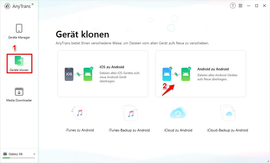 Bilder vom Handy aufs Tablet Samsung – Schritt 1