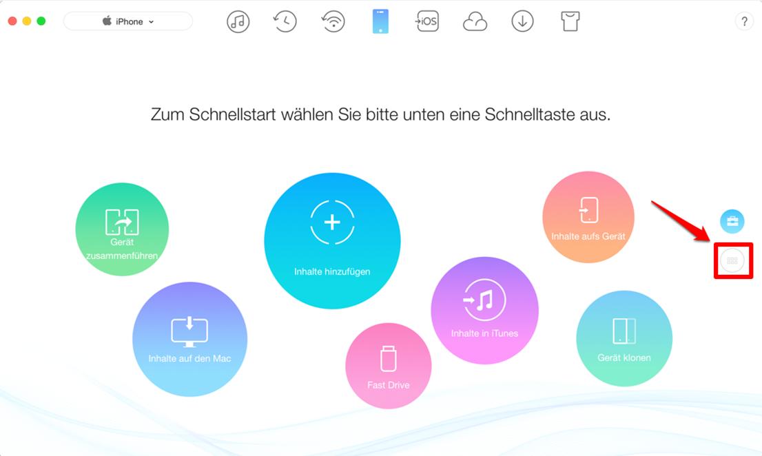 Bilder vom Mac auf iPhone 6 übertragen – Schritt 1