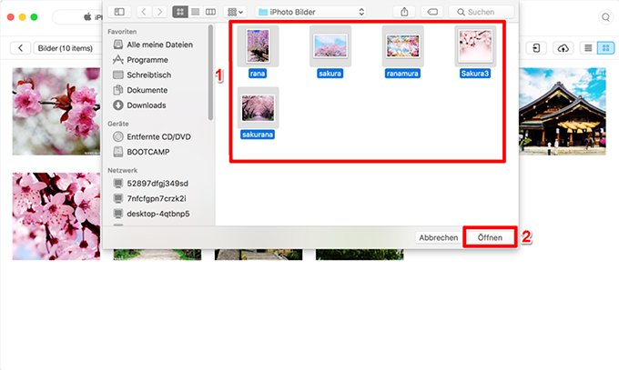 Fotos von Mac auf iPhone 6 – Schritt 3