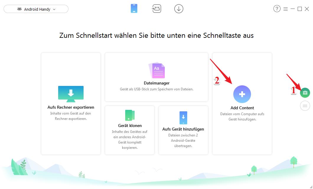 Bilder vom PC auf Android - Schritt 2