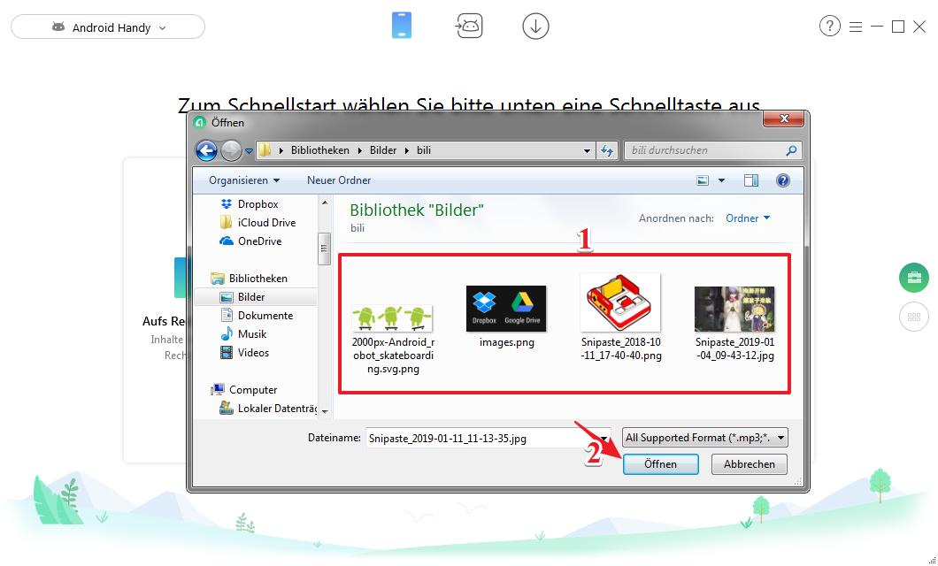 Bilder vom PC auf Android übertragen - Schritt 3