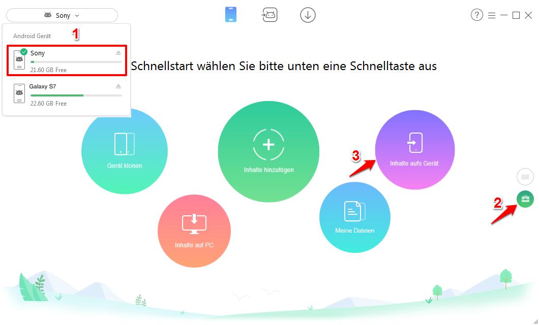 Alle Bilder von Android auf Android übertragen – Schritt 1