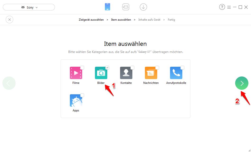 Alle Bilder von Android auf Android übertragen – Schritt 2