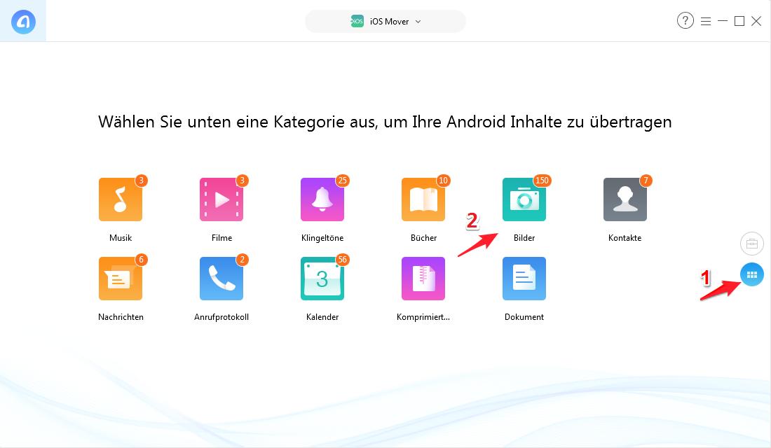 Fotos von Android auf iPhone - Schritt 3