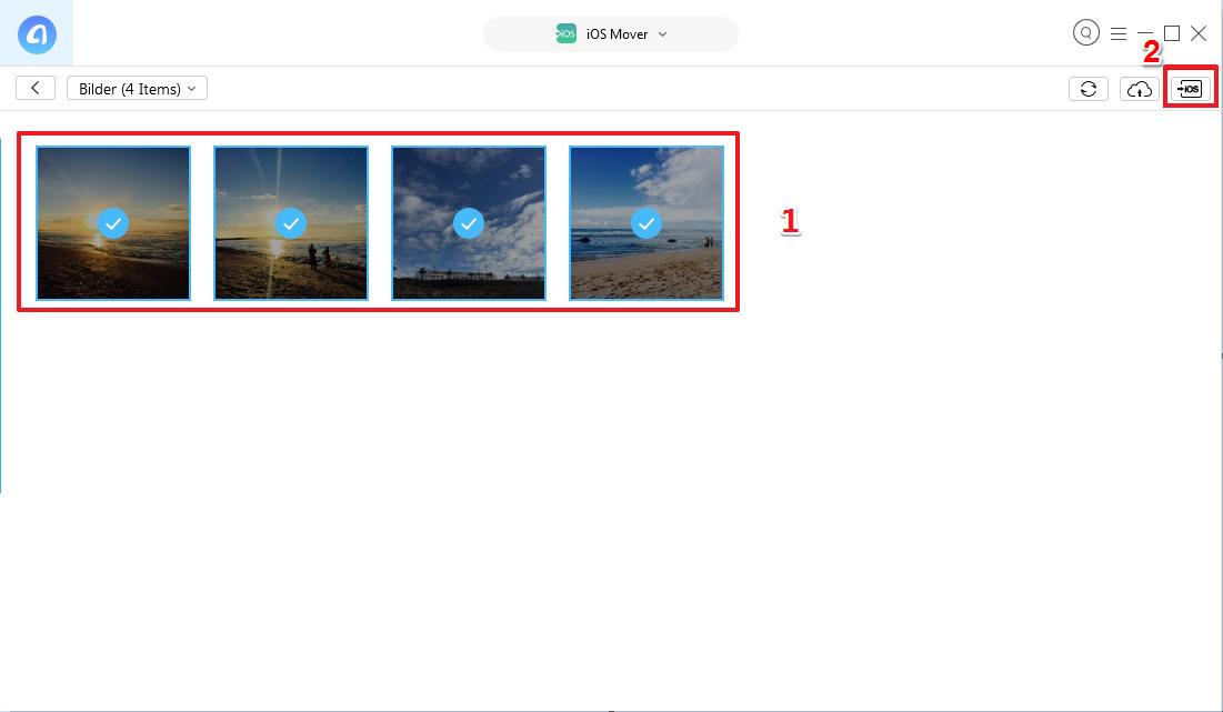 Bilder von Android auf iPhone übertragen - Schritt 4