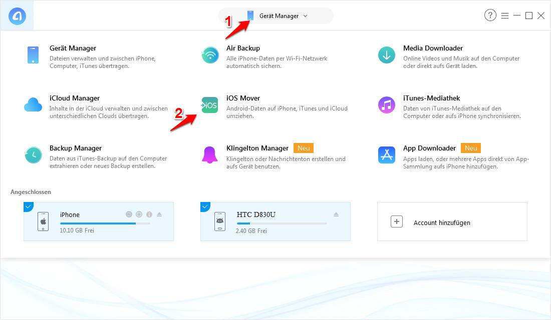 Fotos von Android auf iPhone übertragen via Bluetooth - Schritt 1