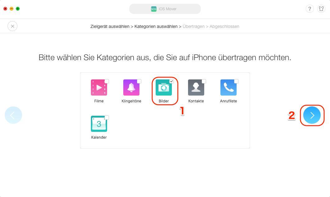 Bilder von Android auf iPhone übertragen – Schritt 2