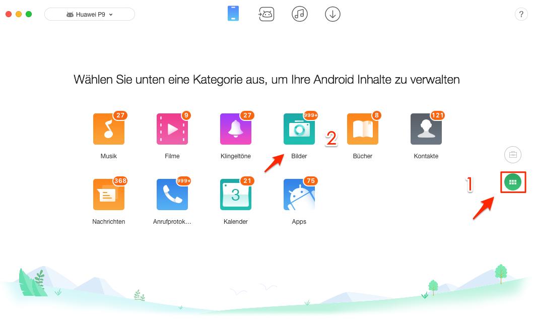 Android Bilder auf Mac ziehen - Schritt 2