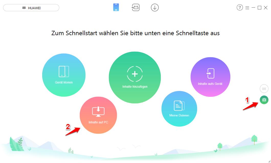 Alle Bilder von Android auf PC/Mac übertragen – Schritt 1