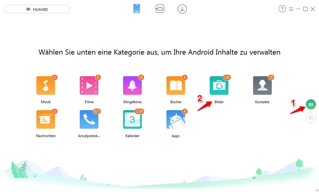 Teilweise Bilder von Android auf PC/Mac übertragen – Schritt 1