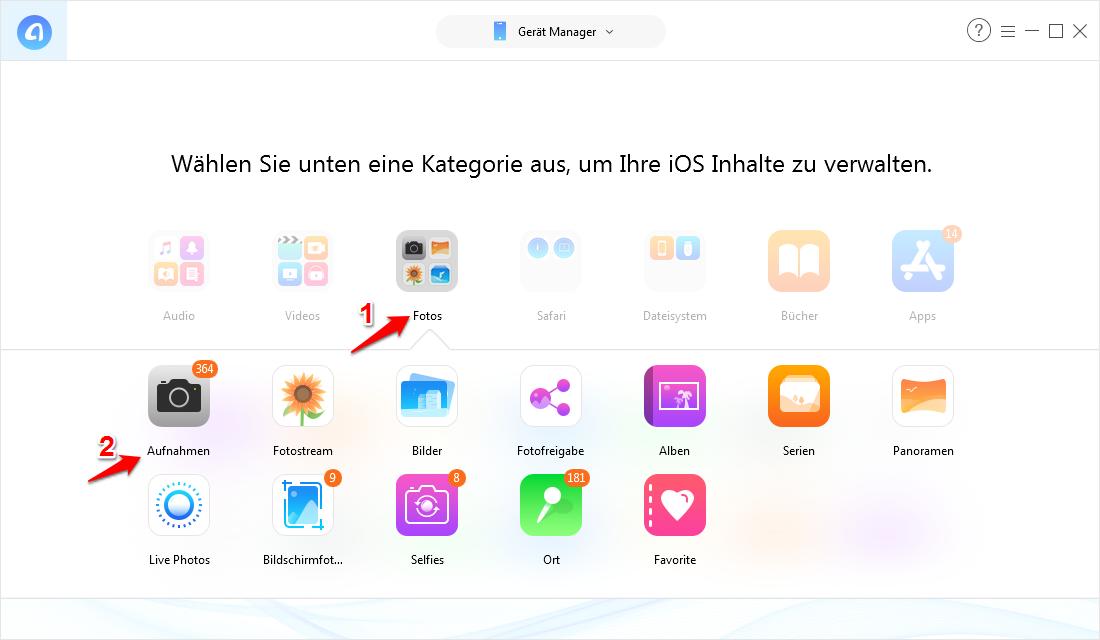 Bilder übertragen vom iPhone auf PC – Schritt 3