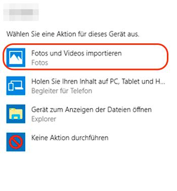 Bilder von Kamera auf PC übertragen Windows 10