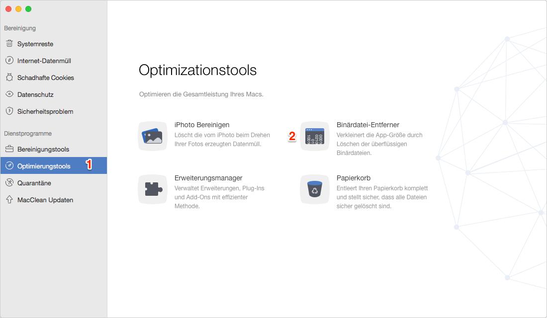 Mac Binär Junk-Dateien entfernen – Schritt 1