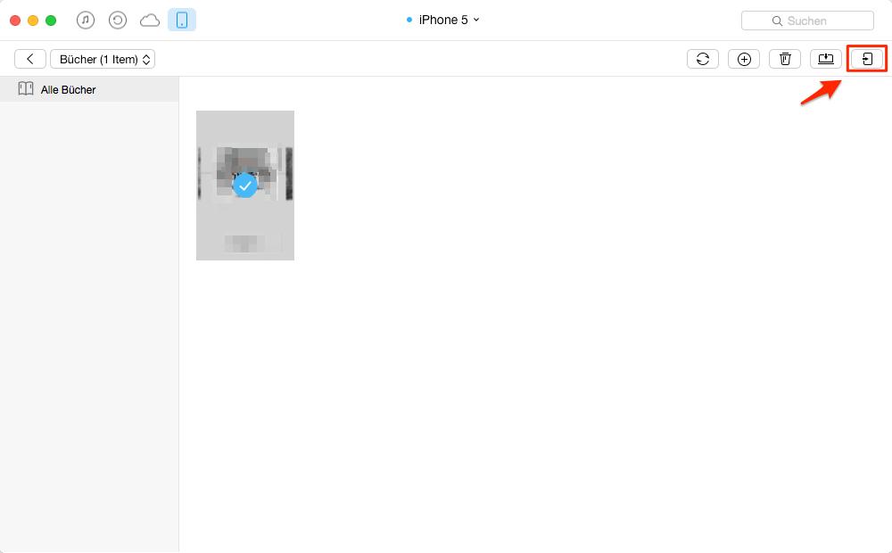 Bücher von dem iPhone auf iPad direkt übertragen - Schritt 2