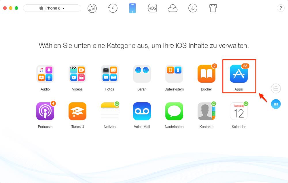 Candy Crush auf neues iOS-Gerät übertagen – Schritt 3