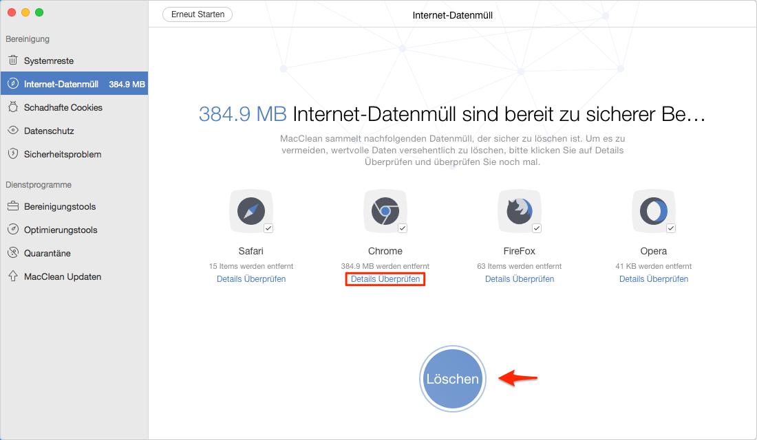 Sicher! Chrome Suchverlauf vom Mac löschen - Schritt 3