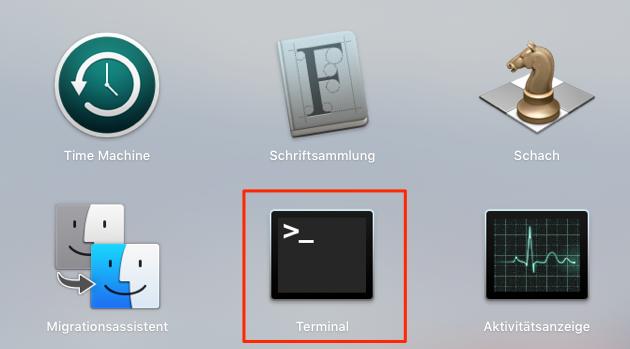 clean install MacOS Sierra – Terminal verwenden