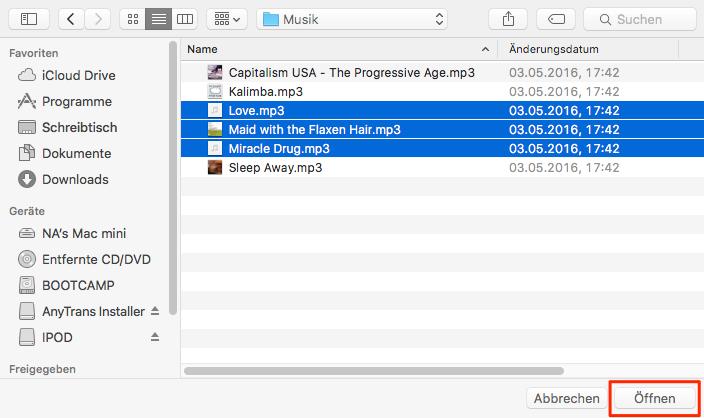 Musik auf iPod laden, ohne iTunes – Schritt 4