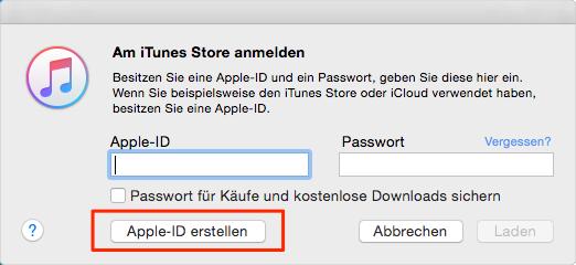 App-ID erstellen: Apple-ID und Passwort eingeben – Schritt 3