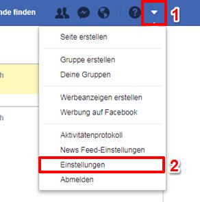 Facebook Bilder speichern - Schritt 1