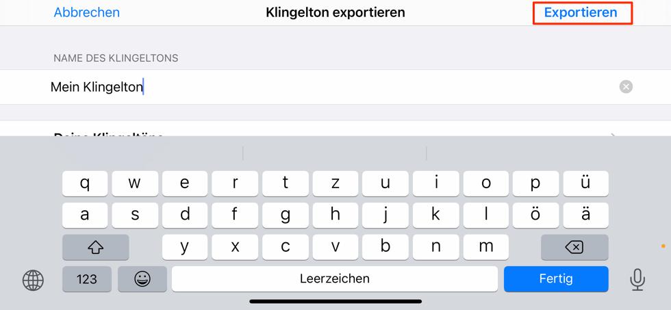 das-ton-exportieren