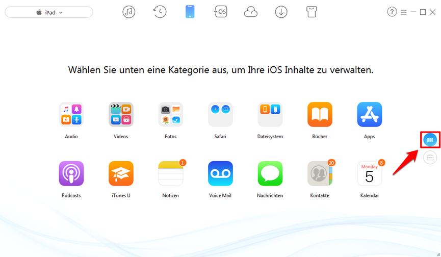 Dateien vom PC auf iPad übertragen – AnyTrans verwenden