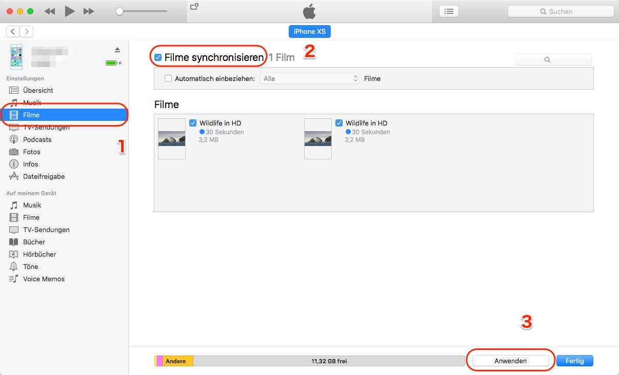Dateien vom PC auf iPhone übertragen - mit iTunes