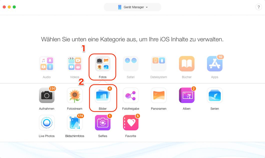 Dateien vom PC auf iPhone ohne iTunes - Schritt 2