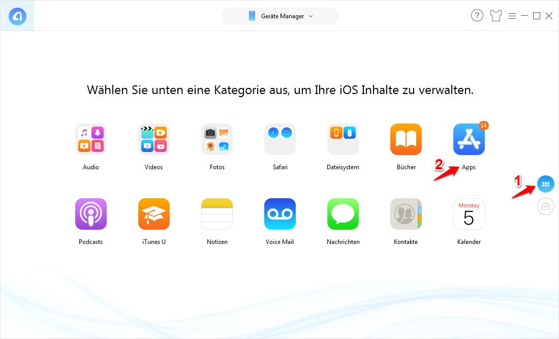 Daten auf iPad Pro übertragen – Schritt 2