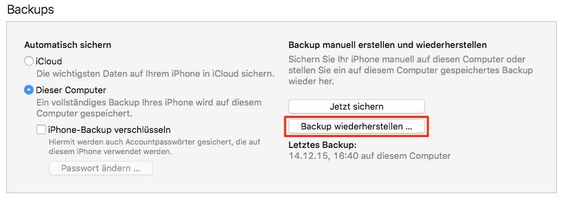 Daten auf iPad übertragen via iTunes
