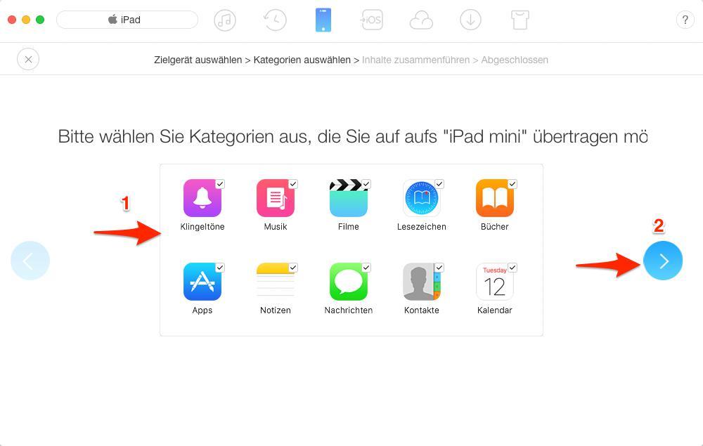 iPad (Pro) Daten auf iPad übertragen – Schritt 3