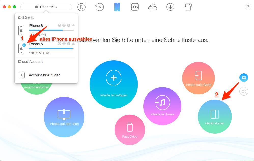 Daten auf neues iPhone schnell übertragen – Schritt 1