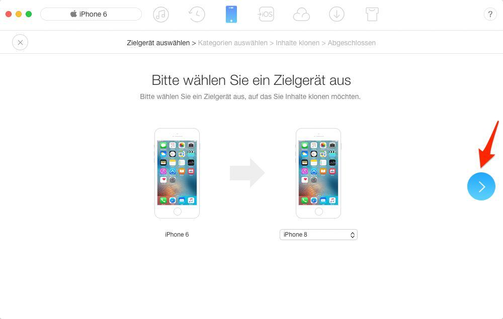 Daten auf neues iPhone 8 übertragen – Schritt 2