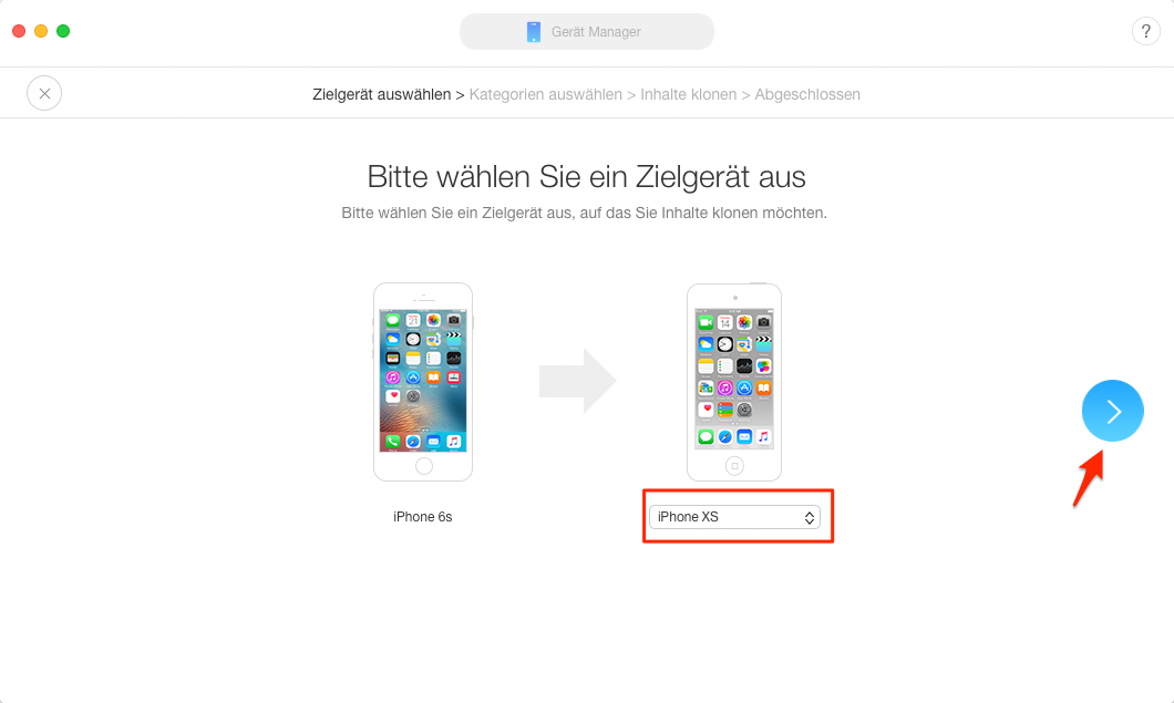 Daten von iPhone auf neues iPhone übertragen – Schritt 3