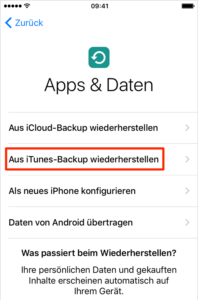 Neues Iphone Daten Ubertragen Itunes